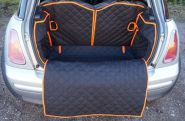 Mini Boot Liner with removable bumper flap and 50/50 seat split