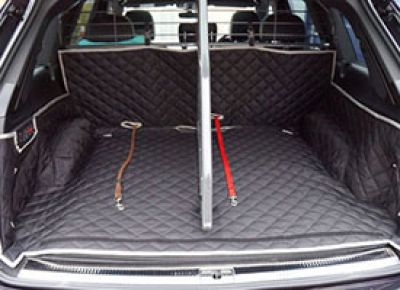 Audi Q7 Custom Made Boot Liner with Dog Guard Fitted
